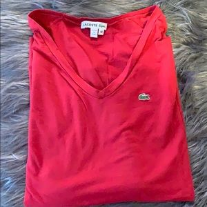 Lacoste Size 40 Red Long Sleeve